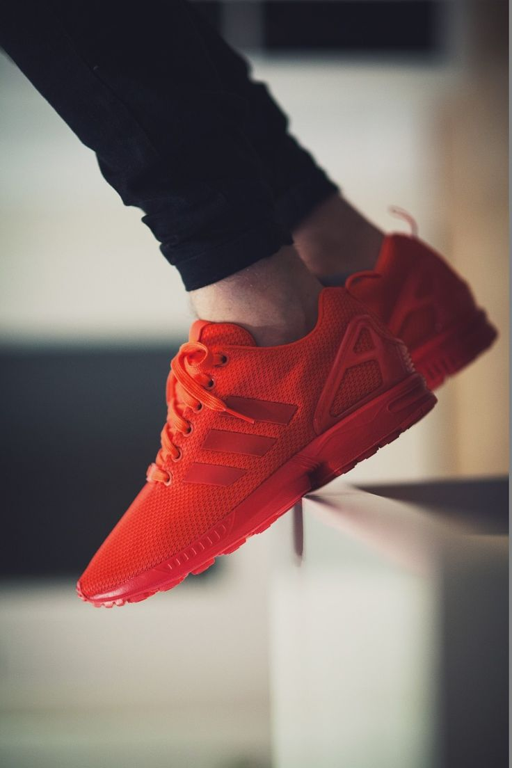 newest 8fcfe 0ef38 zx flux men red