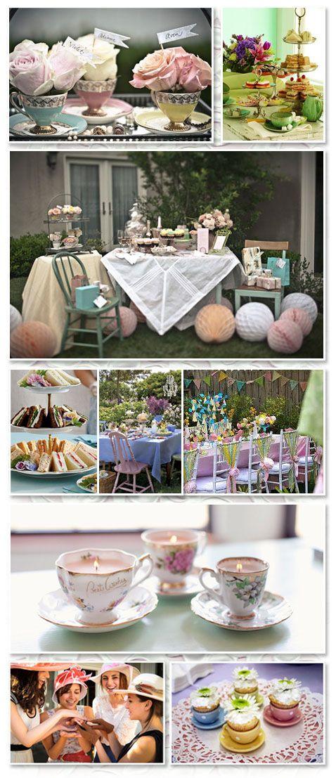 tea party-themed wedding shower ideas