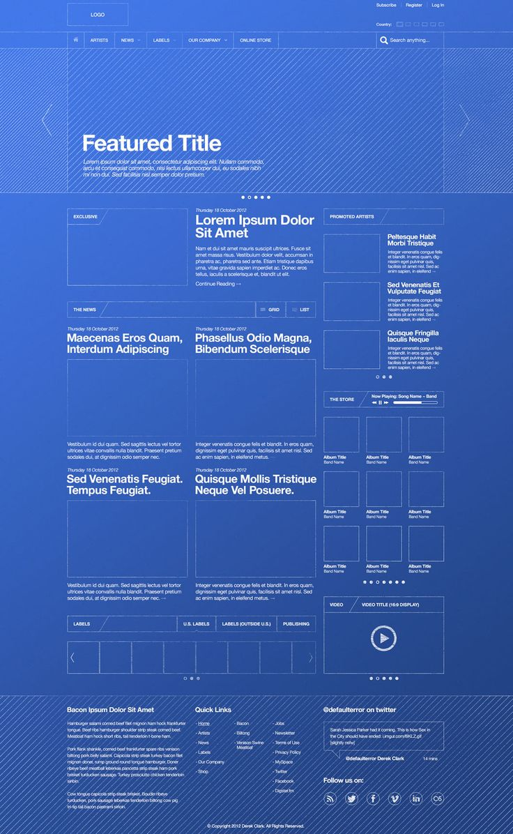 Someone originally pinned this as a way to represent wireframes, but I think it would be a cool theme in its own right.