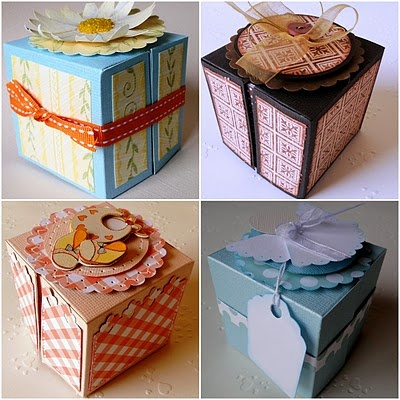 cute boxes for gifts! Maybe you could even use an empty tissue box?