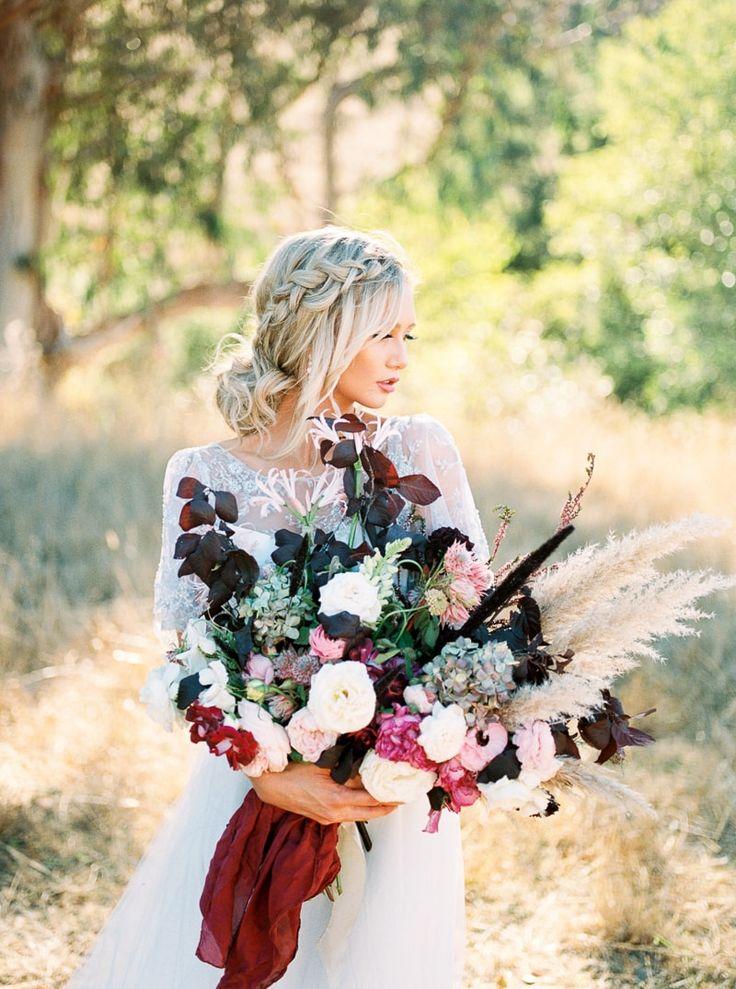 bouquet from Equestrian California styled shoot http://www.trendybride.net/equestrian-wedding-inspiration-kilham-farm/