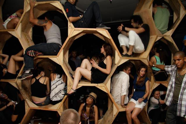 Bee-Hive An Ideal Way To Store Party Guests