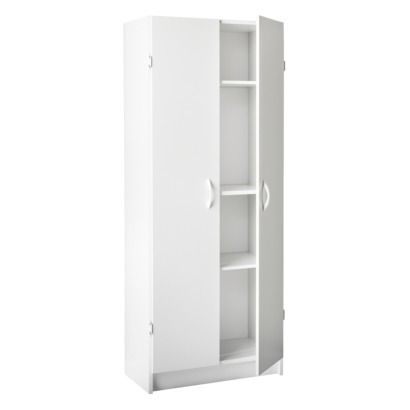 Large 2 Door Cabinet Utility Or Pantry Storage White Room Essentials Pantry Cabinets