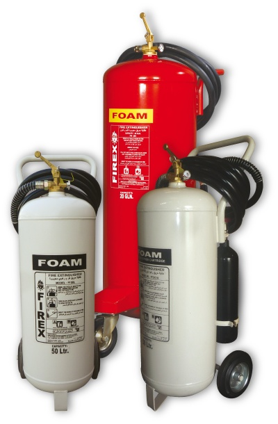 FOAM FIRE EXTINGUISHERS PORTABLE & MOBILE Foam Extinguishers are made of high quality ST14 by means of deep drawing.