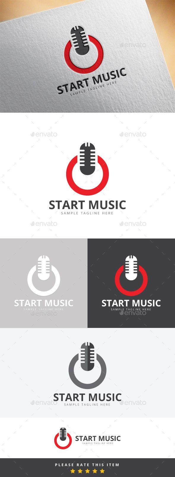 Power Music Logo — Vector EPS #corporate #modern • Available here → https://graphicriver.net/item/power-music-logo/10169949?ref=pxcr