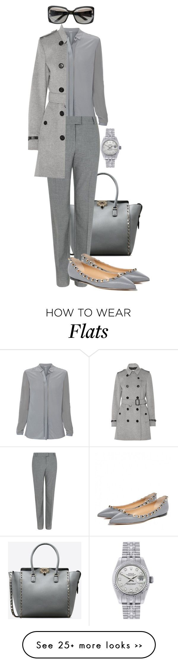 """Untitled #396"" by krisstinak on Polyvore featuring Valentino, Elie Tahari, Fenn Wright Manson, Burberry and Rolex"