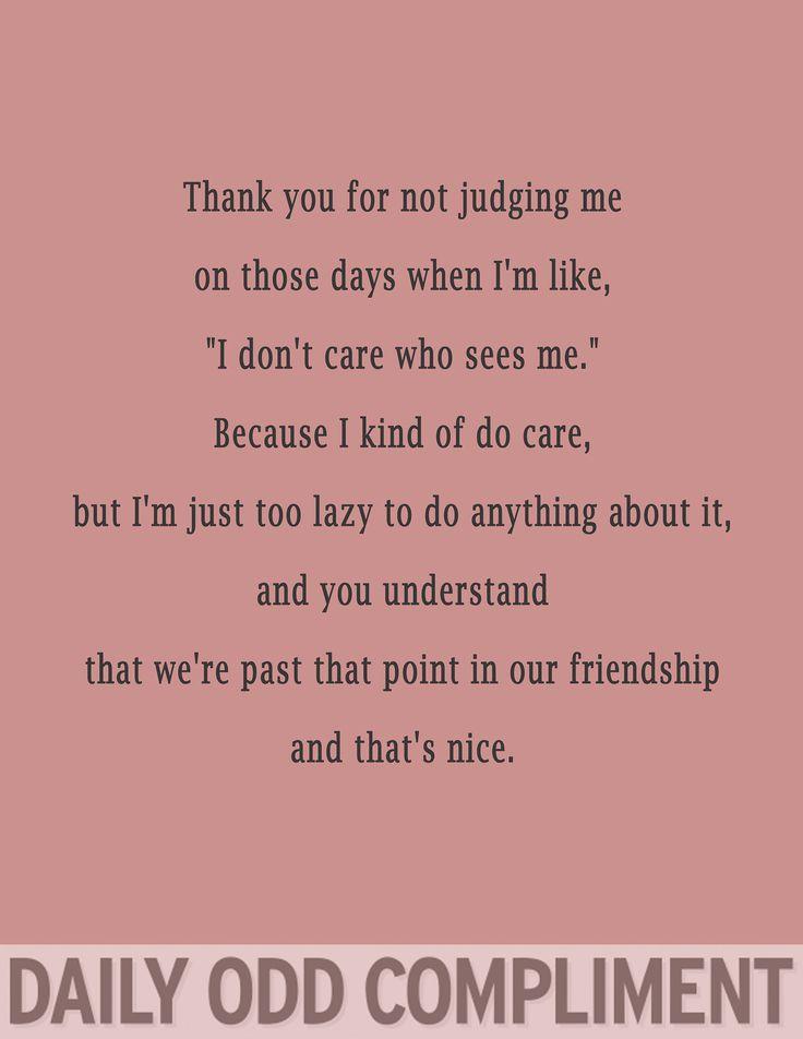 Bahahaha this kinda sounds like our friendship @Brooke Baird Baird Lothes-Stewart!! :D