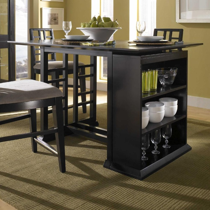 Perspectives Counter Height Pub Table With Storage Unit By