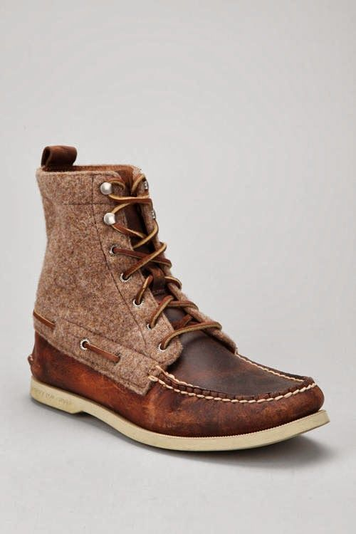 Now this is a good looking brown show high top. Double pattern. Kind of a boot but not bulky