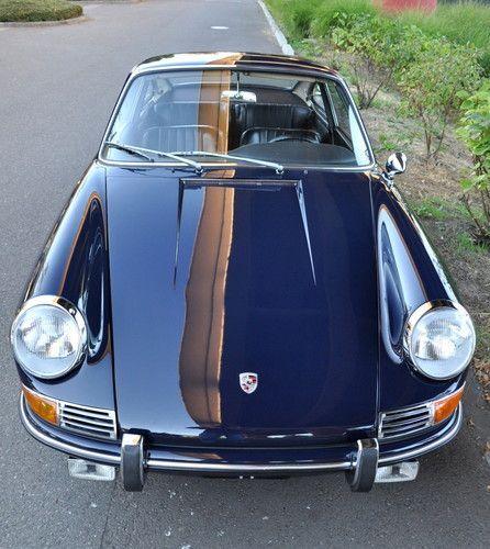 1966 Porsche 912 Short Wheel Base Coupe Aga Blue Fresh Restoration Show Ready, image 1