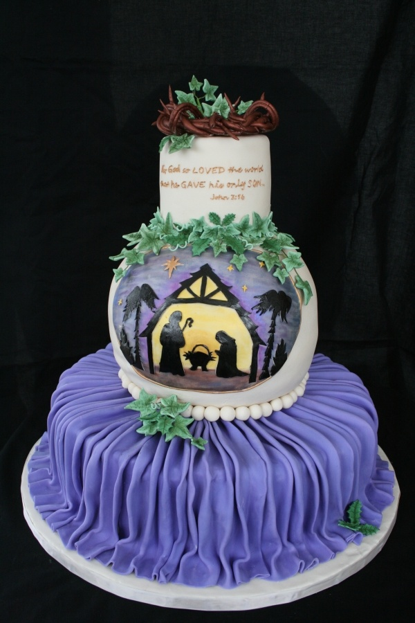Nativity Christmas Cake Design : 17 Best images about Nativity cakes, cupcakes and pops on ...
