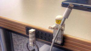 Lego guy cord holders