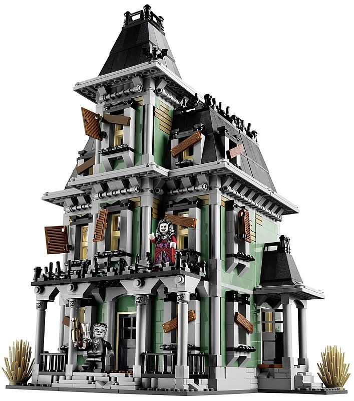 LEGO Haunted House.  Set features 6 minifigures including awesome glow-in-the-dark ghosts and a zombie chef.