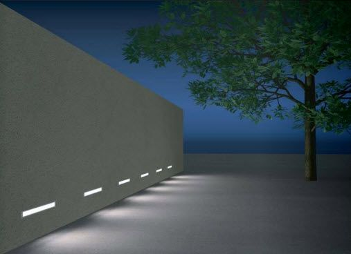 Led linear exterior profile google lighting facade pinterest recessed wall for Low profile exterior wall lights