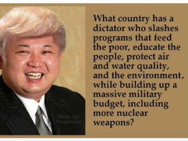 Evil morons separated at birth. Kim Jong-un and Trump.