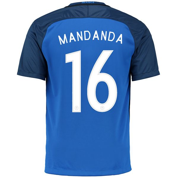 Steve Mandanda 16 2018 FIFA World Cup France Home Soccer Jersey