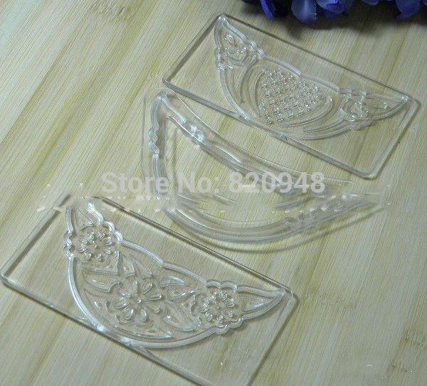 10 conjunto de 3 pc , selo rodada Semicircular Embosser Fondant Sugarcraft pasta de açúcar bolo cortador de decoração alishoppbrasil