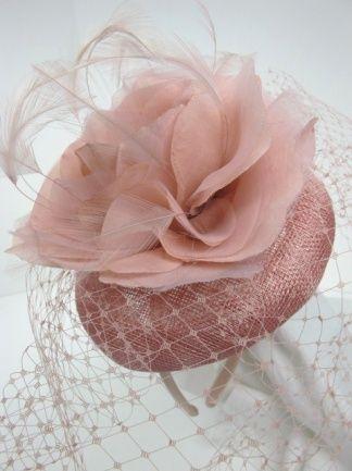 Pink Birdcage Veil Fascinator | Pale Pink Fascinator - Prettycool.co.uk