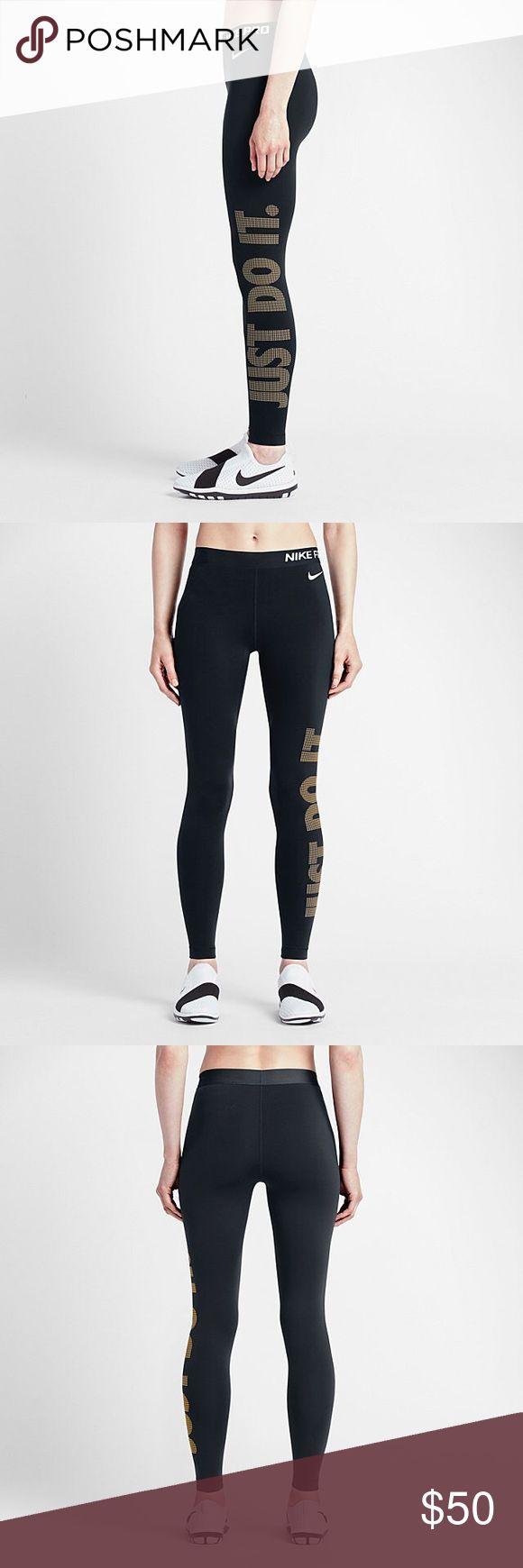 Nike Dri-Fit Black and Gold Leggings Nike black and gold dri-fit leggings size xs! 🚫NO TRADES🚫 Nike Pants