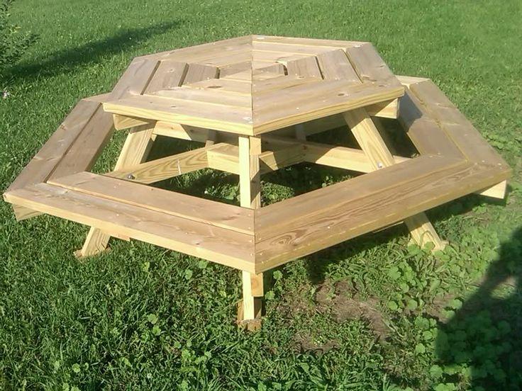 The 25 Best Wooden Picnic Tables Ideas On Pinterest Backyard