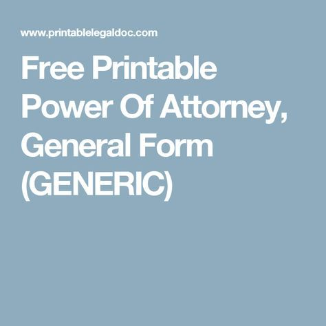 Best 25+ Power Of Attorney Form Ideas On Pinterest Power Of   Sample Do Not