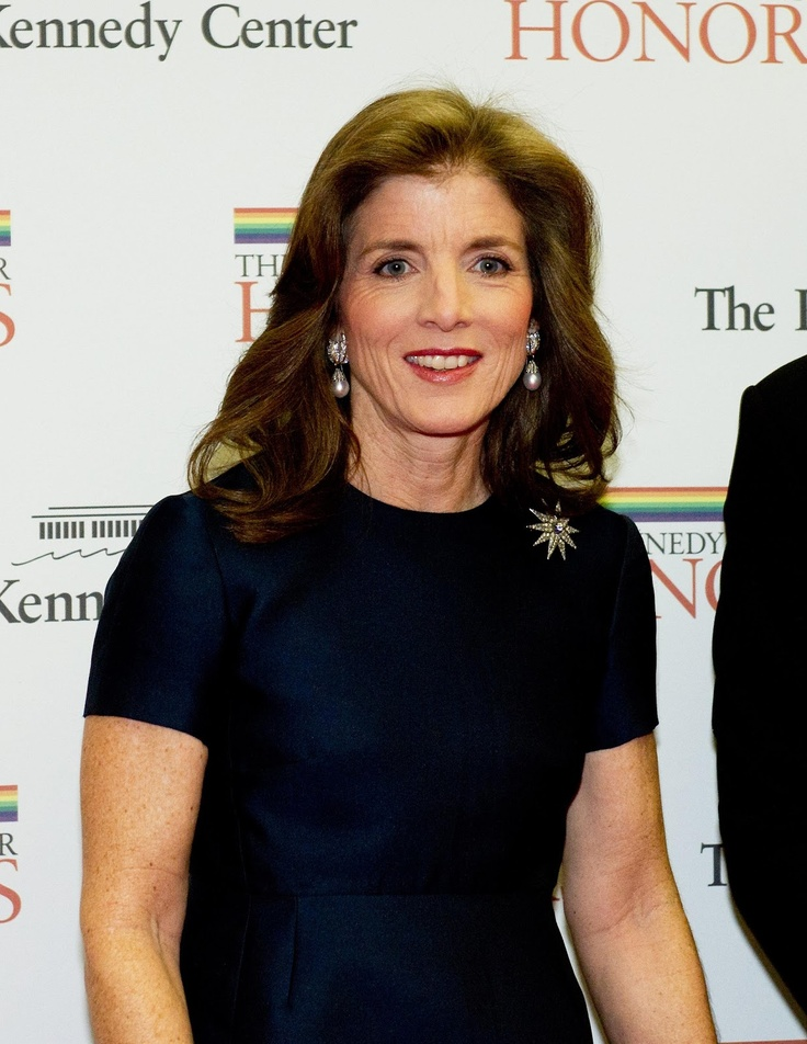 Caroline Kennedy, 55 - (yes, we've all gotten older I only wished I had aged so well even though I am the between the age of her and her brother John would have been)...writes a pinner. She has aged well