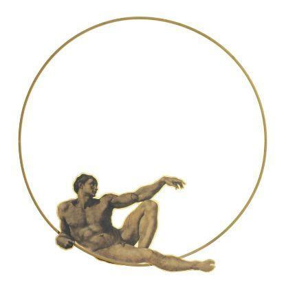 Gijs Bakker, 'Adam necklace,' 1988. Gilded brass and PVC-laminated photograph.