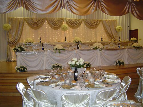 Gold Wedding Decorations Ideas   The wedding decor, grooms wedding decorations for tables .