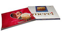 Valentijn merci chocolade doos. Print zelf jouw eigen wikkel voor een merci doos. Kies een achtergrond, eventueel foto en tekst