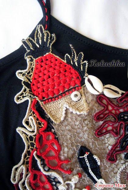 Irish crochet. Кружевные шедевры Лены Статкевич. Irish crochet. Freeform…