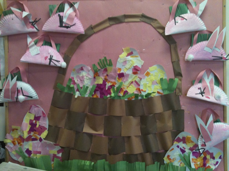 Easter basket: Preschool Ideas, Bulletin Boards, Boards Ideas