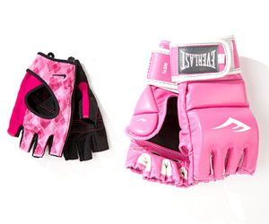 For Gym Goers: Cute Gloves    Nike women's EliteFitness gloves ($25, nike.com) and Everlast women's leather kickboxing gloves ($50, everlast.com)