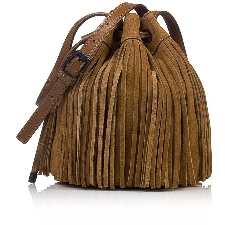 Nak shoes fringe bucket bag
