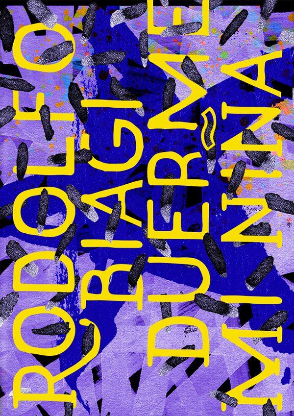 Tango argentino orchestra typographic poster: Rodolfo Biagi