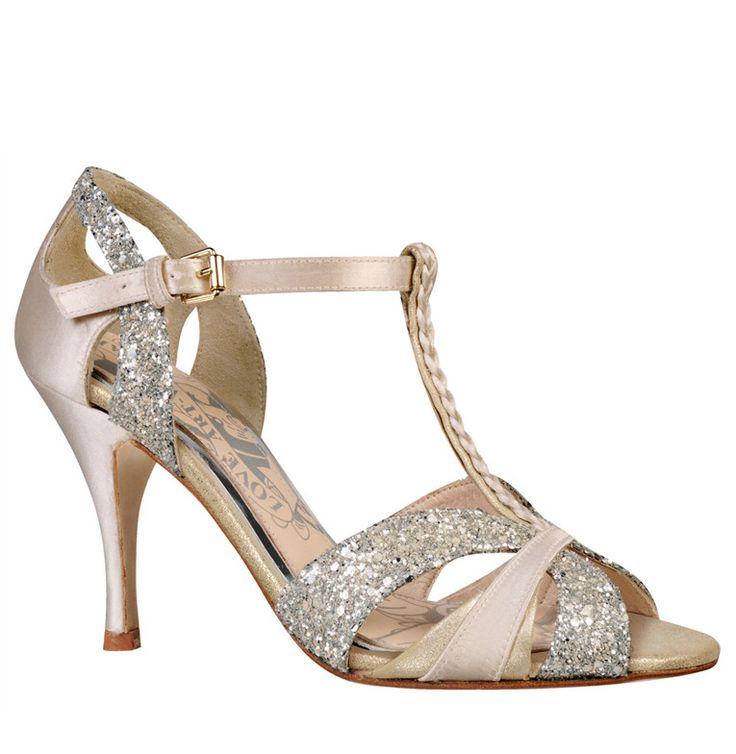 Scarlett ivory t-bar dance shoes
