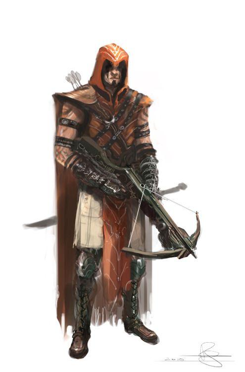 Character a Day (5e character blog) — Gunhem Kul, Variant Human Ranger 3