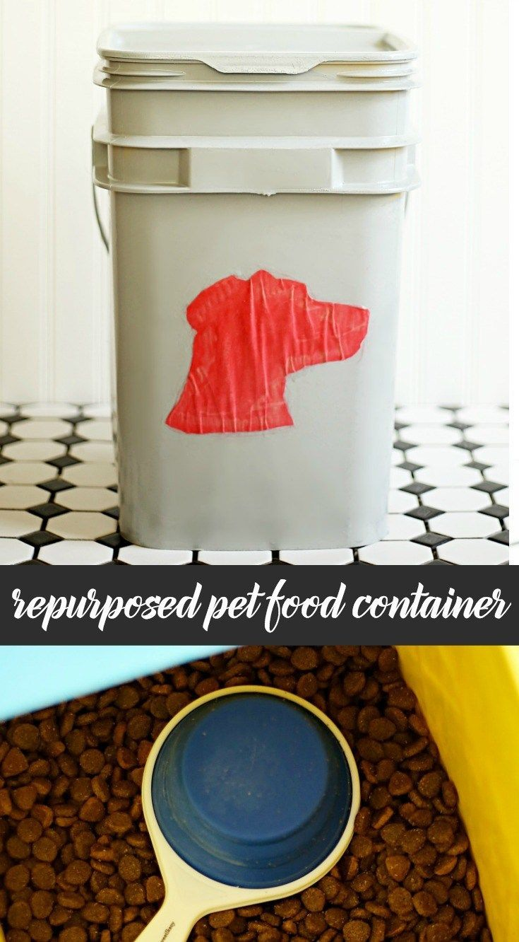 Create less waste - how to make a repurposed pet food container out of a cat litter pail. AD #LessWasteChallenge @tomsofmaine #GoodnessCircle
