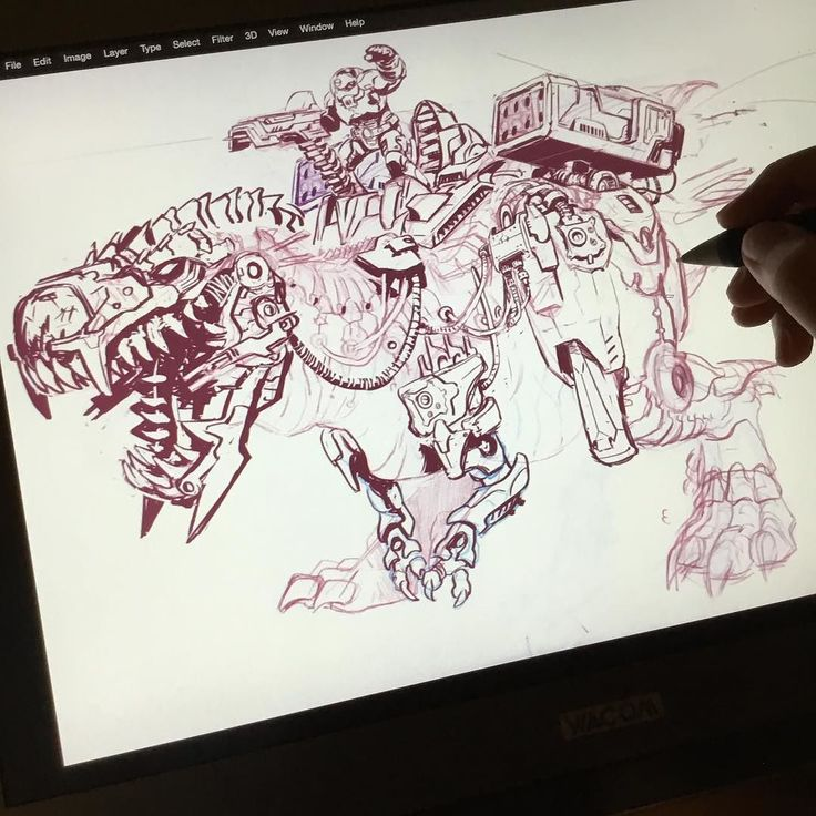 Brb just going to make 14 versions of the same damn drawing I'm thinking of opening up a very limited number of commission slots every month. Head over to @joverineartstore to get the heads up #art #drawing #digital #wacom #photoshop #ipadpro #applepencil #ink #dinosaur #dinoriders #80s #pinterest #twitter #tumblr #blogger #cartoons #toys #trex #mech #horizonzerodawn #ps4
