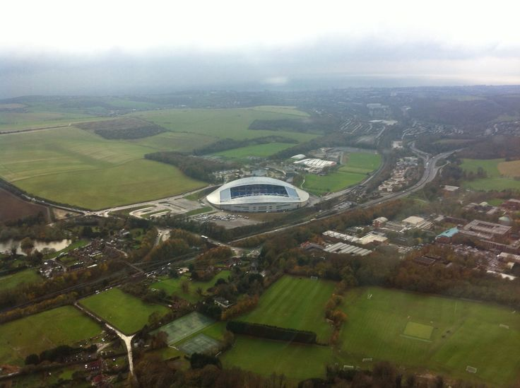 Aerial photograph of the Brighton & Hove Albion FC ground in Falmer (American Express Community Stadium) #bhafc