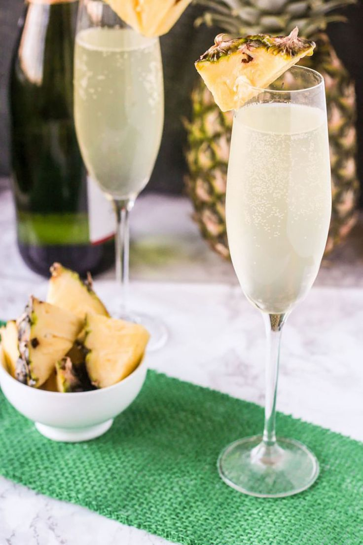 Pineapple Mimosas  - CountryLiving.com