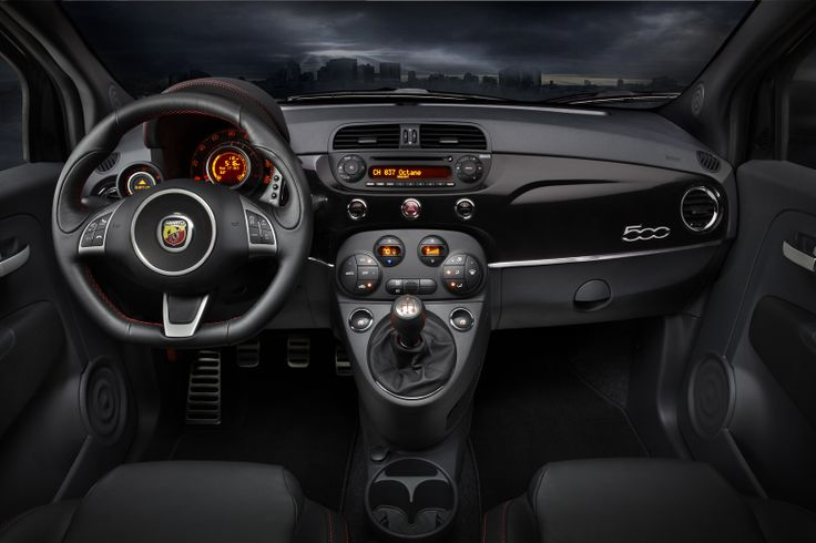 Inside an Abarth 500. Perfection.