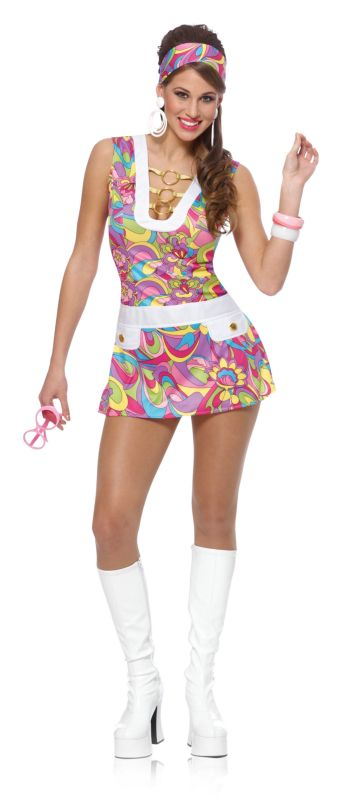 Groovy Chick Adult Costume,$29.99