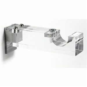 The Curtain Rod Shop: Clear Acrylic Single Curtain Rod Bracket For 1 1/8