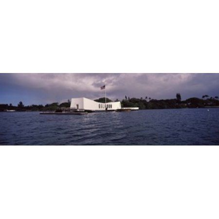 USS Arizona Memorial Pearl Harbor Honolulu Hawaii USA Canvas Art - Panoramic Images (36 x 12)