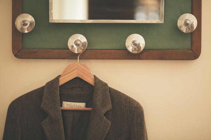 Loving Restored Antique coat rack in the hallway