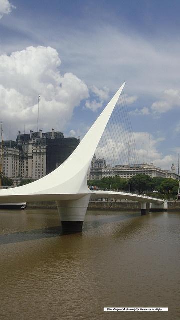 Arquitectura e Ingeniería - Puente de la Mujer, Calatrava, Buenos Aires