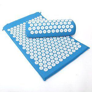 KingOfHearts™ Acupressure Mat Set comprennent un coussin et un oreiller pour Massage du corps, dos et du cou Soulagement de la douleur,…