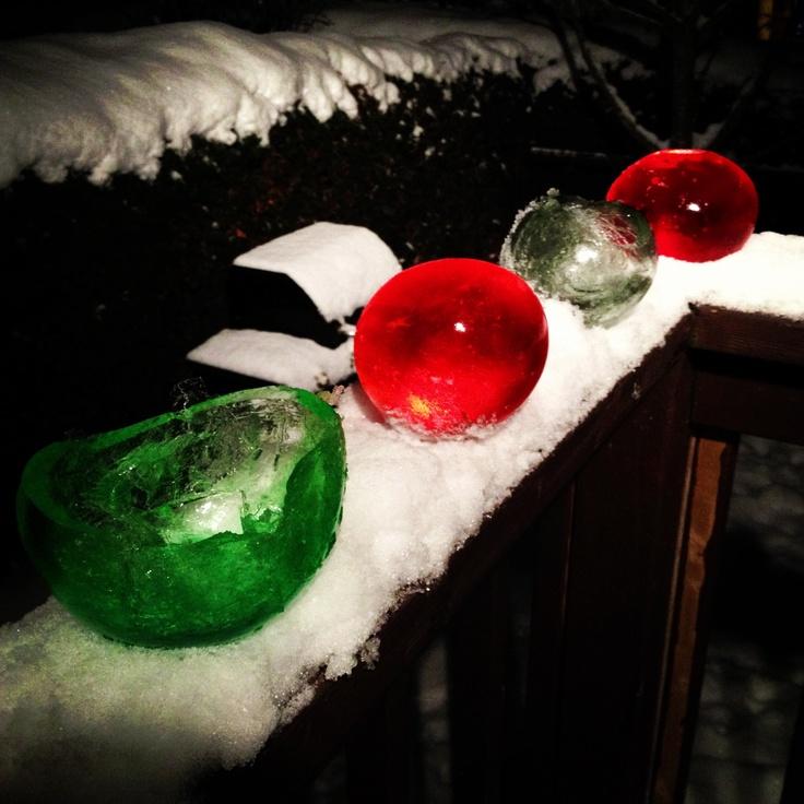 Water balloon ice balls for christmas pinterest