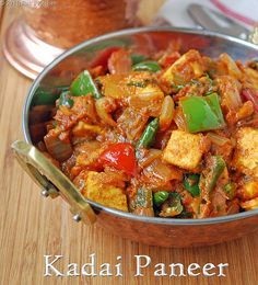 Kadai paneer recipe Serves: 2 Paneer ,cubed	 1 cup  Onion	 2,cubed  Tomatoes	 3 (small),chopped  Capsicum	 1,cubed  Ginger,finely chopped	 1 tblsp  Green chillies	 2  Red chilli powder	 1 & 1/2  tsp  Dhaniya/coriander powder	 1 tblsp  Garam masala powder	 3/4 tsp  Turmeric powder	 1/8 tsp  Salt	 As needed  Kasoori methi	 1 tsp  Coriander leaves,chopped	 2 tblsp   To Temper Oil	3 tblsp Coriander seeds	1 tsp
