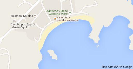 Map of Kalamitsi Beach, Grecia